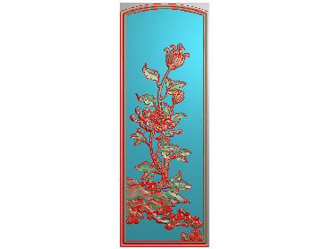 MLZJ202-JDP格式中式梅兰竹菊浮雕图花鸟鱼虫电脑雕刻图四君子精雕图