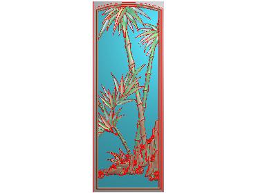 MLZJ203-JDP格式中式梅兰竹菊浮雕图花鸟鱼虫电脑雕刻图四君子精雕图