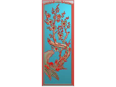 MLZJ204-JDP格式中式梅兰竹菊浮雕图花鸟鱼虫电脑雕刻图四君子精雕图