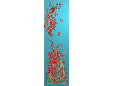 MLZJ206-JDP格式中式梅兰竹菊浮雕图花鸟鱼虫电脑雕刻图四君子精雕图