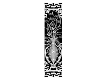MLZJ249-JDP格式梅兰竹菊镂空浮雕精雕图中式镂空花草电脑雕刻图花草镂空浮雕灰度图(含灰度图)