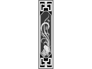 MLZJ253-JDP格式梅兰竹菊镂空浮雕精雕图中式镂空花草电脑雕刻图花草镂空浮雕灰度图(含灰度图)