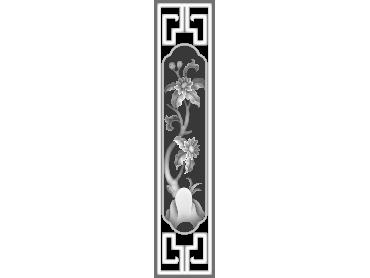 MLZJ255-JDP格式梅兰竹菊镂空浮雕精雕图中式镂空花草电脑雕刻图花草镂空浮雕灰度图(含灰度图)