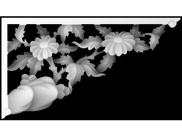 MLZJ295-JDP格式梅兰竹菊镂空浮雕精雕图中式镂空花草电脑雕刻图花草镂空浮雕灰度图(含灰度图)