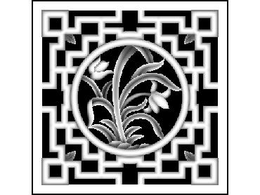 MLZJ310-JDP格式梅兰竹菊镂空浮雕精雕图中式镂空花草电脑雕刻图花草镂空浮雕灰度图(含灰度图)