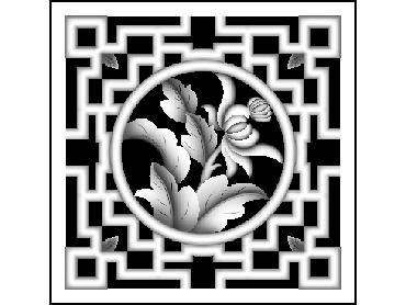 MLZJ311-JDP格式梅兰竹菊镂空浮雕精雕图中式镂空花草电脑雕刻图花草镂空浮雕灰度图(含灰度图)
