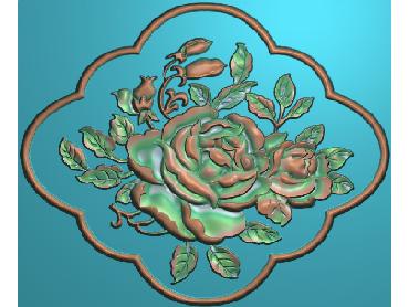MDHN029-JDP格式中式牡丹浮雕图花鸟鱼虫电脑雕刻图牡丹花精雕图(含灰度图)