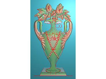 MDHN079-JDP格式中式牡丹浮雕图花鸟鱼虫电脑雕刻图牡丹花精雕图(含灰度图)