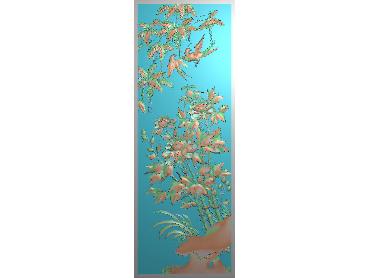 MDHN117-JDP格式中式牡丹浮雕图花鸟鱼虫电脑雕刻图牡丹花精雕图(含灰度图)
