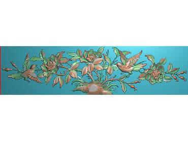 MDHN192-JDP格式中式牡丹浮雕图花鸟鱼虫电脑雕刻图牡丹花精雕图(含灰度图)