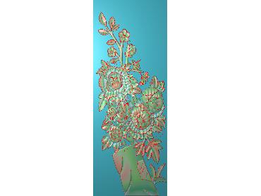 MDHN212-JDP格式中式牡丹浮雕图花鸟鱼虫电脑雕刻图牡丹花鸟精雕图