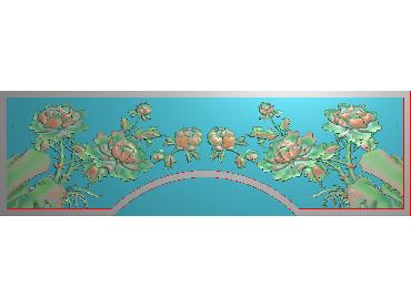 MDHN265-JDP格式中式牡丹浮雕图花鸟鱼虫电脑雕刻图牡丹花鸟精雕图