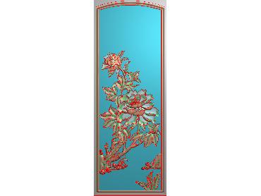 MDHN421-JDP格式中式牡丹浮雕图花鸟鱼虫电脑雕刻图牡丹花鸟精雕图