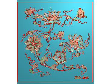 ZWHN059-JDP格式中式简单花小图中式浮雕图简单花小图电脑激光雕刻图简单花小图精雕图