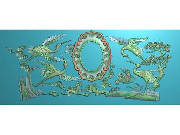ZWHN106-JDP格式中式寿盒—仙鹤中式浮雕图寿盒—仙鹤电脑激光雕刻图寿盒—仙鹤精雕图