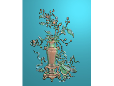 ZWHN159-JDP格式中式花鸟鱼虫浮雕图植物花鸟电脑雕刻图花草精雕图(含灰度图)