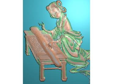 RW017-JDP格式中式古代美女中式浮雕图古代美女电脑激光雕刻图古代美女精雕图