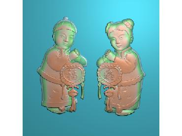 RW027-JDP格式中式招财进宝中式浮雕图招财进宝电脑激光雕刻图招财进宝精雕图