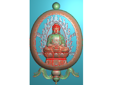 RW195-JDP格式中式人物浮雕图人物电脑激光雕刻图人物精雕图