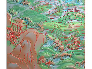 SSFJ129-JDP格式中式山水风景浮雕图山水风景电脑雕刻图风景精雕图
