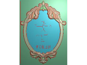 SXBK016-JDP格式中式边框电脑雕图石线精雕图边框精雕图中式相框精雕图(含灰度图)