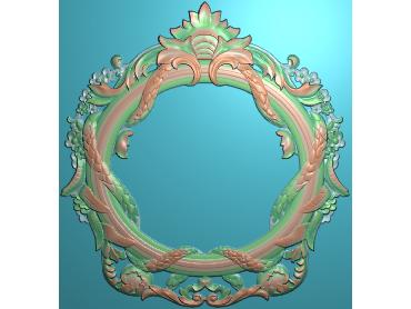 SXBK020-JDP格式中式边框电脑雕图石线精雕图边框精雕图中式相框精雕图(含灰度图)