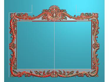 SXBK036-JDP格式中式边框电脑雕图石线精雕图边框精雕图中式相框精雕图(含灰度图)