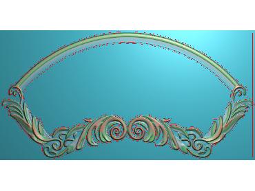 SXBK039-JDP格式中式边框电脑雕图石线精雕图边框精雕图中式相框精雕图(含灰度图)