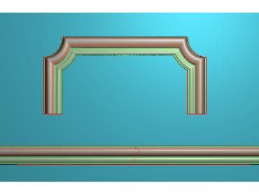 SXBK046-JDP格式中式边框电脑雕图石线精雕图边框精雕图中式相框精雕图(含灰度图)