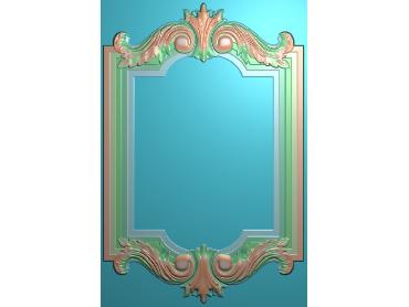 SXBK054-JDP格式中式边框电脑雕图石线精雕图边框精雕图中式相框精雕图(含灰度图)