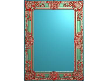 SXBK063-JDP格式中式边框电脑雕图石线精雕图边框精雕图中式相框精雕图(含灰度图)