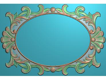 SXBK065-JDP格式中式边框电脑雕图石线精雕图边框精雕图中式相框精雕图(含灰度图)