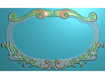 SXBK069-JDP格式中式边框电脑雕图石线精雕图边框精雕图中式相框精雕图(含灰度图)