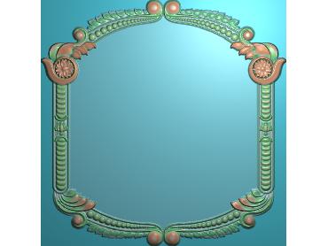 SXBK073-JDP格式中式边框电脑雕图石线精雕图边框精雕图中式相框精雕图(含灰度图)