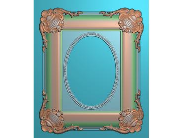 SXBK076-JDP格式中式边框电脑雕图石线精雕图边框精雕图中式相框精雕图(含灰度图)
