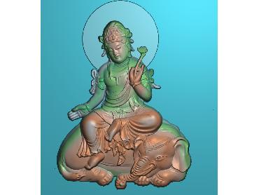XF010-JDP格式中式文殊菩萨电脑激光雕刻图文殊菩萨浮雕图文殊菩萨精雕图