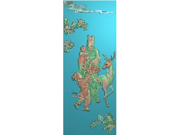 XF030-JDP格式中式福禄寿之一电脑激光雕刻图福禄寿之一浮雕图福禄寿之一精雕图