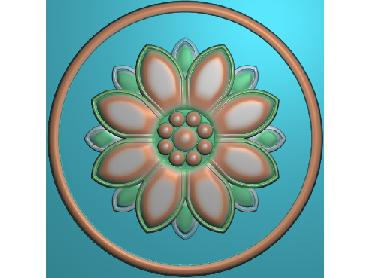 ZSYH036-JDP格式中式圆形浮雕图圆形洋花电脑雕刻图中式圆花精雕图圆花灰度图