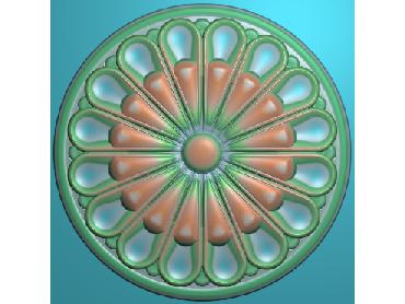 ZSYH040-JDP格式中式圆形浮雕图圆形洋花电脑雕刻图中式圆花精雕图圆花灰度图