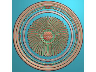 ZSYH041-JDP格式中式圆形浮雕图圆形洋花电脑雕刻图中式圆花精雕图圆花灰度图
