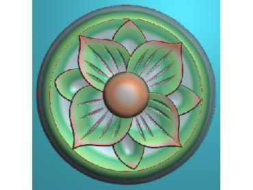 ZSYH043-JDP格式中式圆形浮雕图圆形洋花电脑雕刻图中式圆花精雕图圆花灰度图
