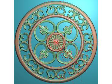 ZSYH047-JDP格式中式圆形浮雕图圆形洋花电脑雕刻图中式圆花精雕图圆花灰度图