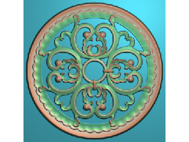 ZSYH054-JDP格式中式圆形浮雕图圆形洋花电脑雕刻图中式圆花精雕图圆花灰度图