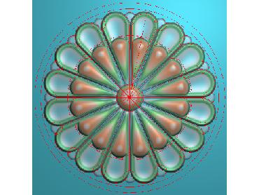 ZSYH065-JDP格式中式圆形浮雕图圆形洋花电脑雕刻图中式圆花精雕图圆花灰度图