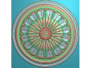 ZSYH070-JDP格式中式圆形浮雕图圆形洋花电脑雕刻图中式圆花精雕图圆花灰度图