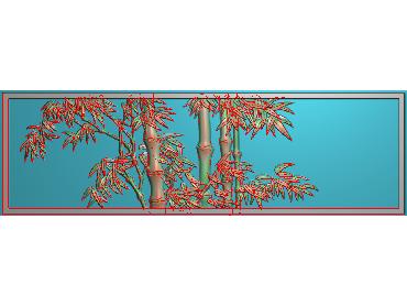 ZHU031-JDP格式中式竹子浮雕图梅兰竹菊电脑雕刻图竹子精雕图(含灰度图)