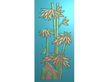 ZHU038-JDP格式中式竹子浮雕图梅兰竹菊电脑雕刻图竹子精雕图(含灰度图)