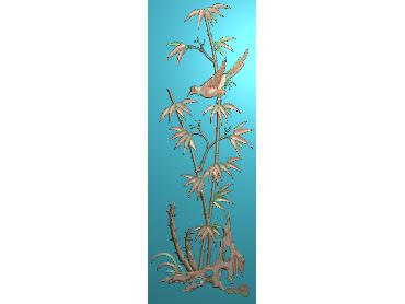 ZHU044-JDP格式中式竹子浮雕图梅兰竹菊电脑雕刻图竹子精雕图(含灰度图)