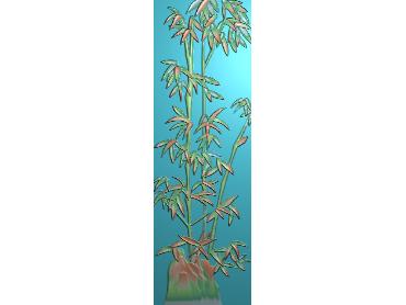ZHU056-JDP格式中式竹子浮雕图梅兰竹菊电脑雕刻图竹子精雕图(含灰度图)
