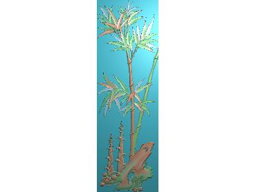 ZHU066-JDP格式中式竹子浮雕图梅兰竹菊电脑雕刻图竹子精雕图(含灰度图)